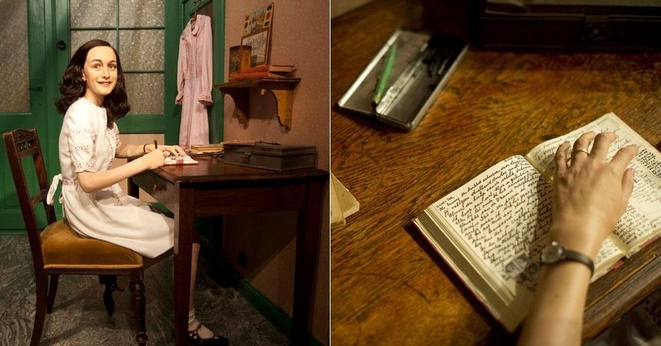 Anne Frank ganhou uma figura de cera no Museu Madame Tussauds de Berlim (9/3/12)