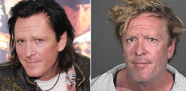 """O ator Michael Madsen na época do filme """"Kill Bill"""". Foto do ator detido após envolver-se em uma briga com seu filho adolescente, em sua casa em Malibu, Estados Unidos (9/3/12)"""