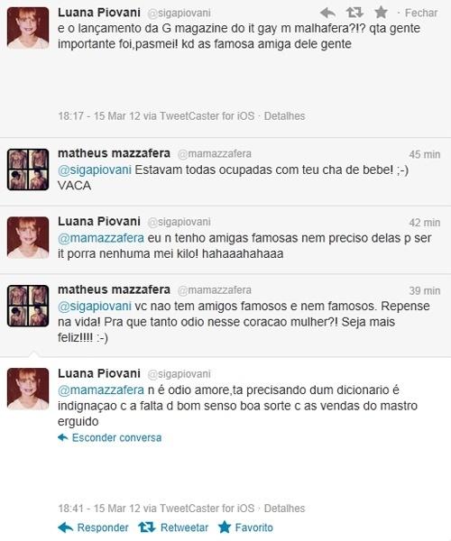 Briga de Luana Piovani e Matheus Mazzafera no Twitter (15/3/12)