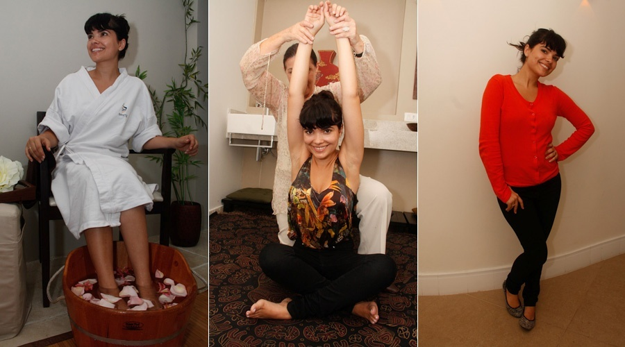 Vanessa Giácomo tem dia de beleza em clínica estética em São Paulo (17/1/12)