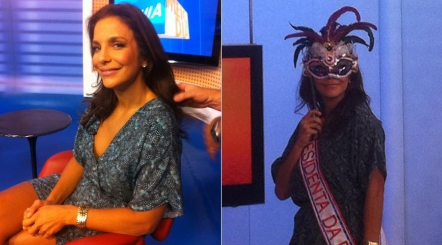 Ivete Sangalo grava participao em programa de TV na Bahia (24/1/12)