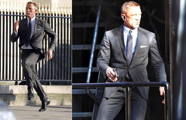 """Previsto para estrear em novembro, Daniel Craig grava cenas do novo filme de James Bond """"Skyfall"""" em Londres. As filmagens do longa, produzido quatro anos após a primeira atuação de Craig no papel de Bond, começaram em outubro de 2011 e devem se estender até abril deste ano (3/2/12)"""
