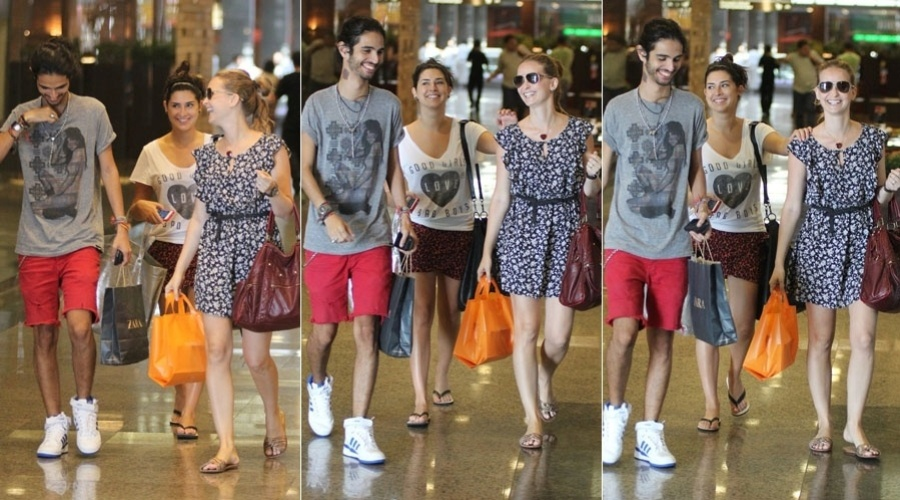 Fernanda Paes Leme e Fernanda Rodrigues fazem compras em shopping do Rio (6/2/2012)
