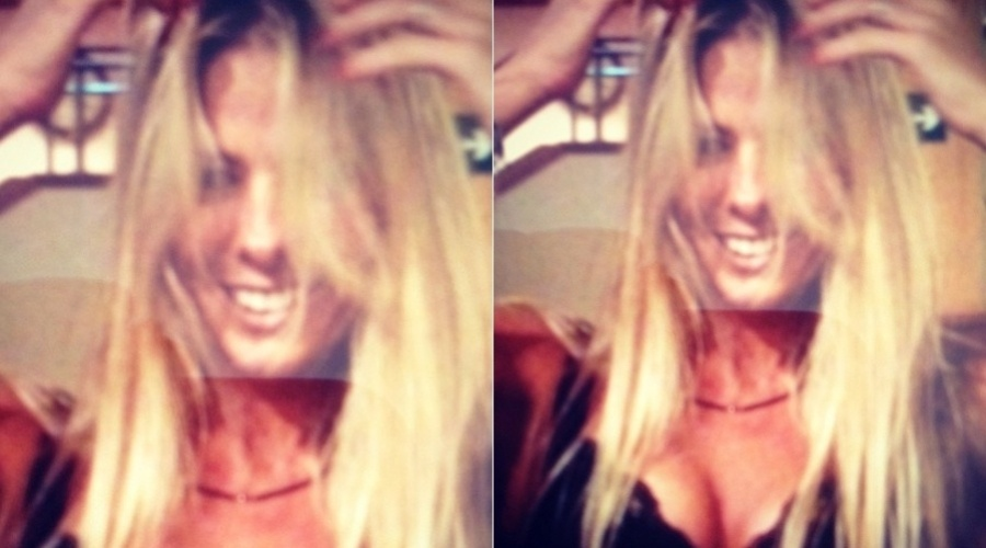 Adriane Galisteu aparece descabela em foto divulgada por sua página do Twitter (9/2/2012)