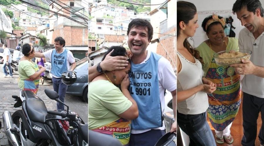 Edu Guedes sobe o morro do Vidigal, na zona sul do Rio, para gravar programa (9/2/2012)