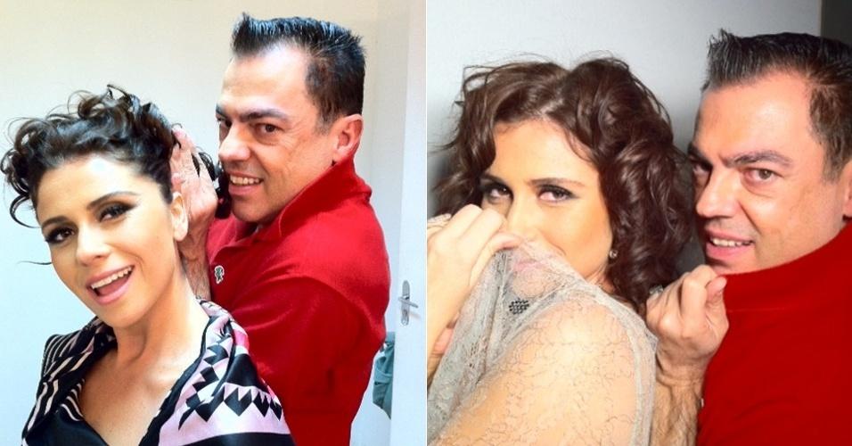 No Twitter, Marco Antônio de Biaggi posta foto ao lado de Giovanna Antonelli (23/2/12)