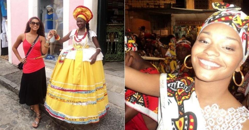 No Twitter, a atriz Juliana Alves posta fotos de seu Carnaval na Bahia (27/2/12)