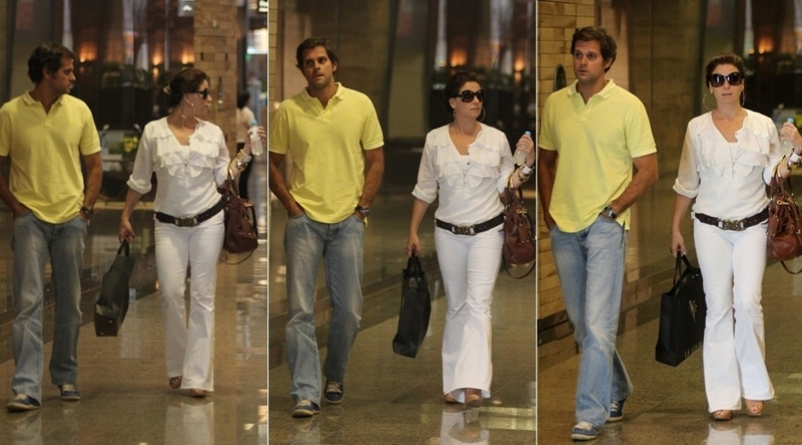 Giovanna Antonelli passeia com o marido, Leonardo Nogueira, em shopping da zona oeste do Rio (29/2/2012)