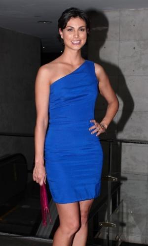 Depois de divulgar sua nova série, a atriz Morena Baccarin participou de festa em São Paulo (29/2/12)
