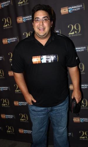 O apresentador André Marques esteve em São Paulo na última quarta-feira e curtiu festa na casa noturna Royal Club, do empresário Marcus Buaiz (29/2/12)
