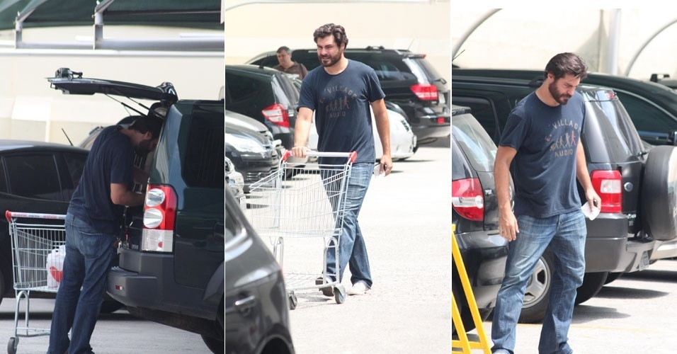&#34;Dono de casa&#34;, Thiago Lacerda faz compras em supermercado no Rio de Janeiro (3/3/12)