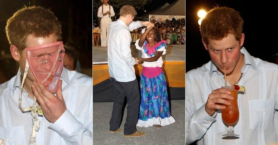 Príncipe Harry visita Belize, na América Central, como parte da comemoração pelo 60 anos de trono da rainha Elizabeth 2ª (2/3/12)
