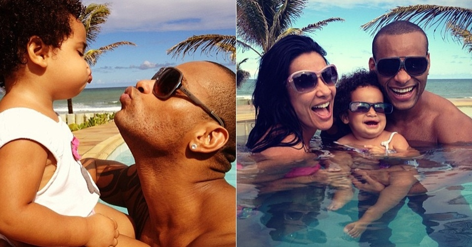 No Twitter, Scheila Carvalho posta fotos de seu final de semana com o marido e a filha (4/3/12)