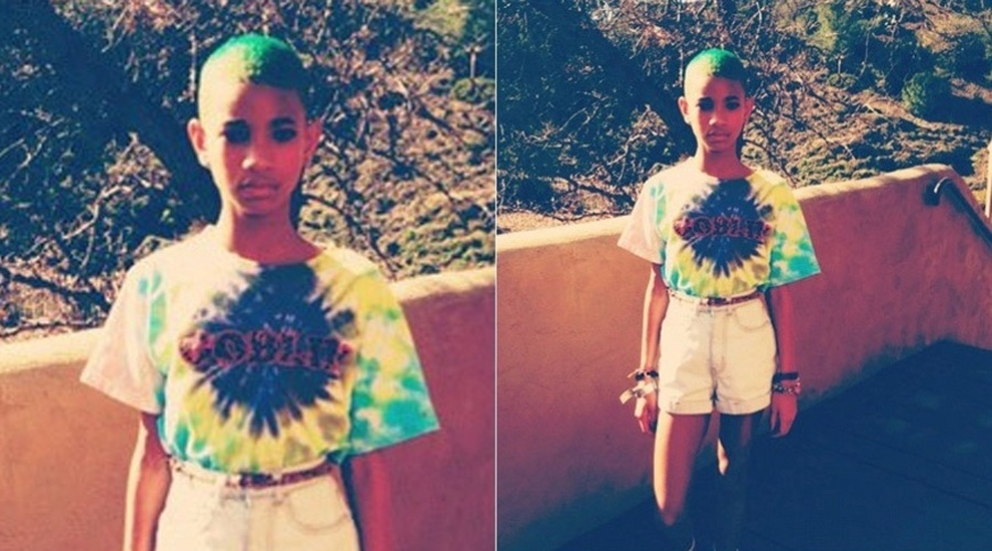 Willow Smith pinta o cabelo de verde (5/3/2012)