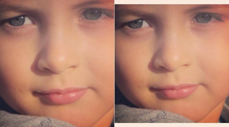 Claudia Leitte mostra pelo Twitter uma foto do filho, Davi, de três anos (7/3/2012)