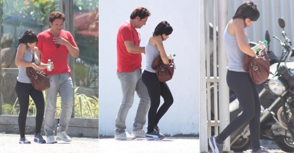 A atriz Vanessa Giacomo é vista saindo de uma academia na Barra da Tijuca, no Rio de Janeiro (9/3/12)