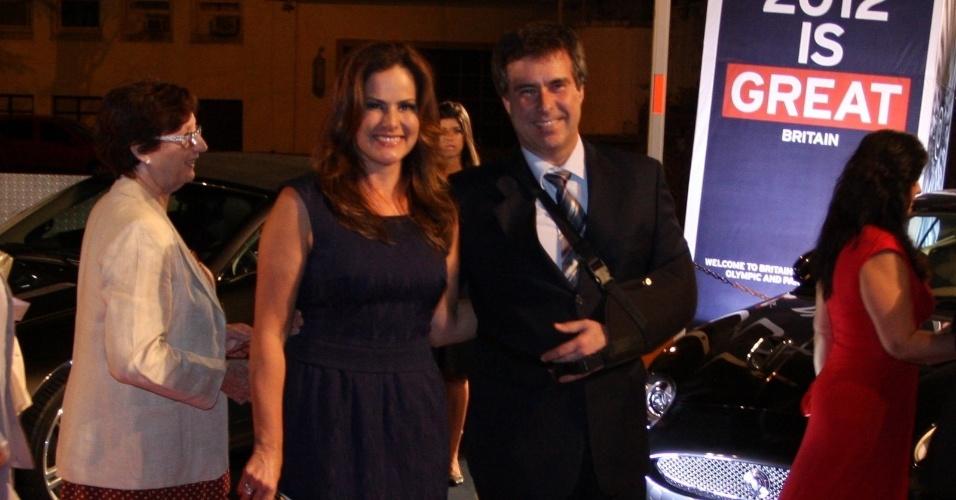 Renata Ceribelli em evento do príncipe Harry no Rio (9/3/12)
