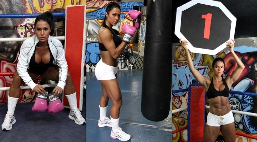Gracyanne Barbosa faz ensaio como ring girl (12/3/12)