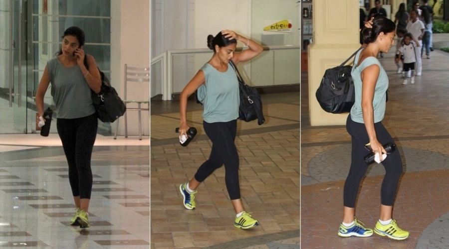 Juliana Paes sai de academia em shopping da zona oeste do rio (12/3/2012)