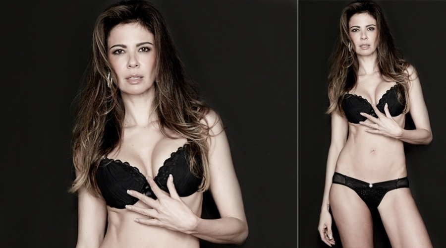 Luciana Gimenez exibe &#243;tima forma em ensaio para sua linha de lingerie