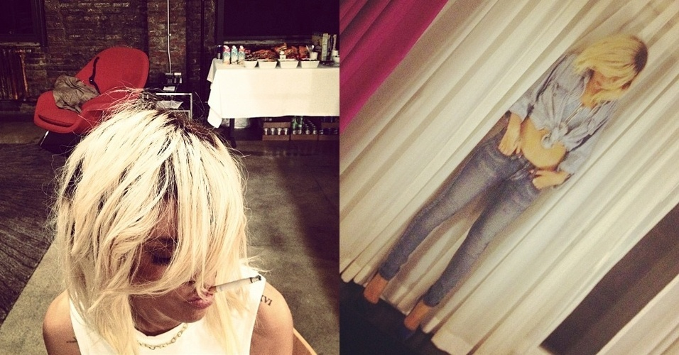 Rihanna em bastidores de ensaio fotográfico (13/3/12)
