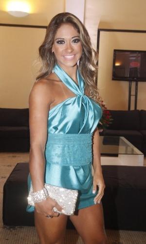 A ex-BBB Mayra Cardi prestigia a festa de 30 anos da promoter Carol Sampaio, no Copacabana Palace, no Rio de Janeiro (15/3/12)
