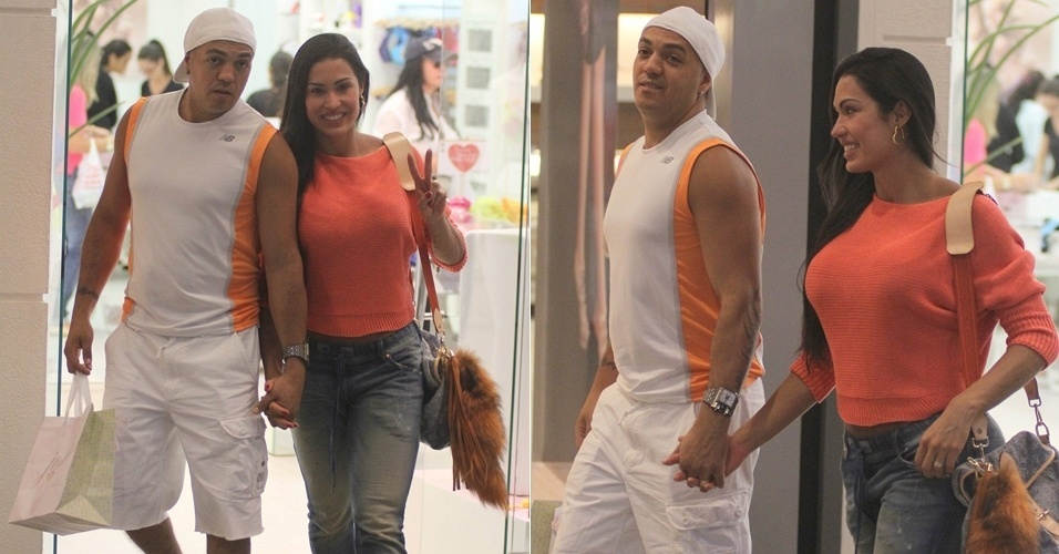 Belo e Gracyanne v&#227;o &#224;s compras no Rio (16/3/12)