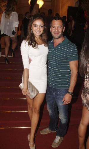 Sophie Charlotte e Malvino Salvador no aniversário de 30 anos da promoter Carol Sampaio no Hotel  Copacabana Palace, no Rio De Janeiro (15/3/12)