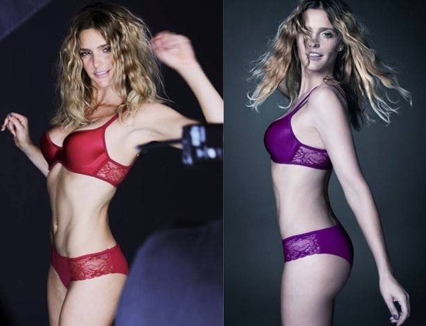 Fernanda Lima posa para anncio de lingerie (17/3/2012)
