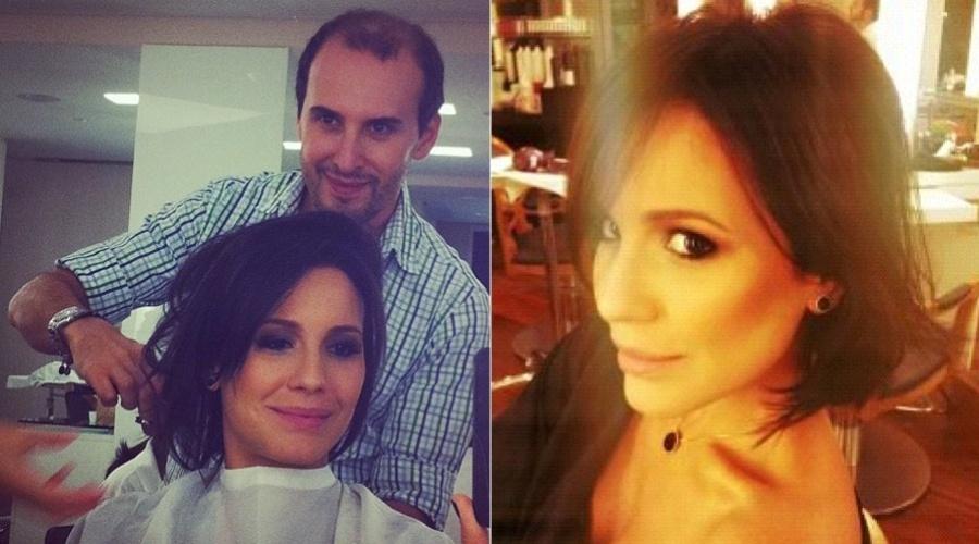 Juliana Knust muda o visual e corta os cabelos (21/3/2012)