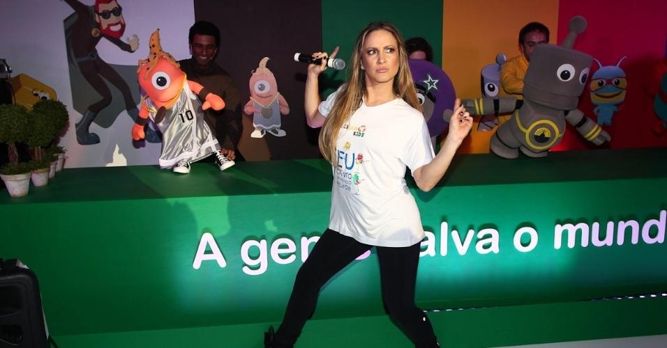 Claudia Leitte se apresenta em evento infantil (23/3/12)