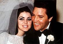 Elvis Presley e Priscilla no dia do casamento (01/05/1967)