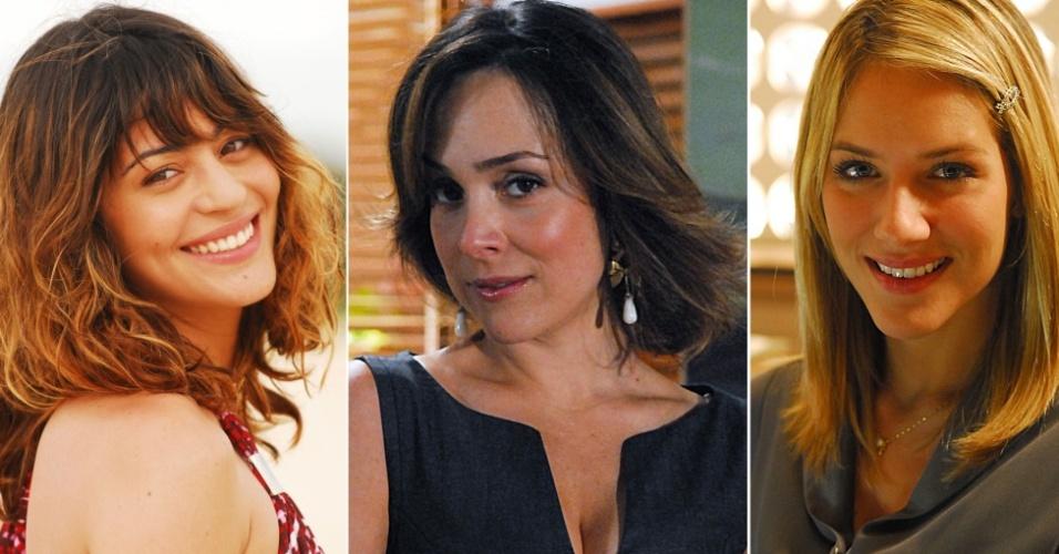 As atrizes Carol Castro, Gabriela Duarte e Giovanna Ewbank que têm os cabelos copiados em salões de todo o país