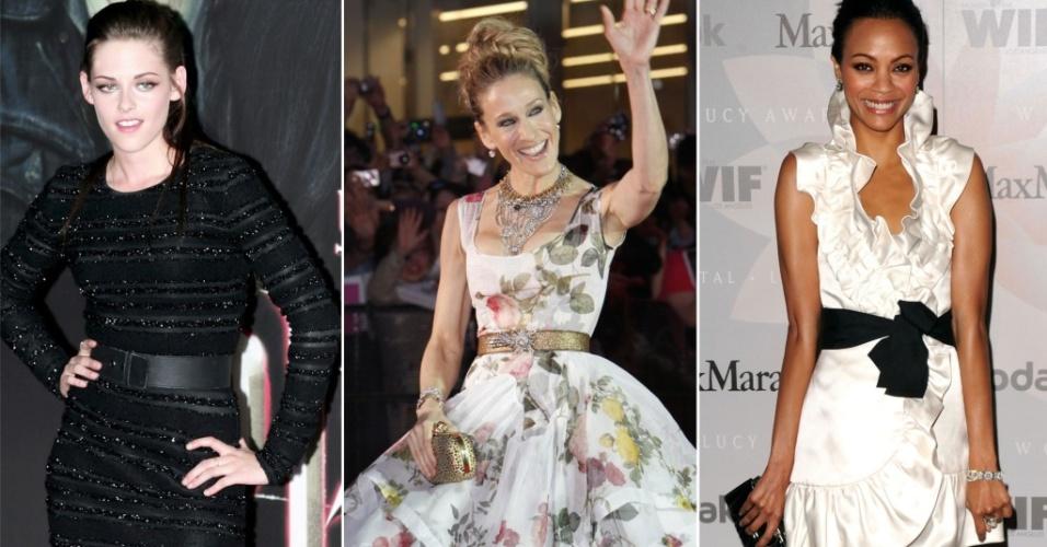 Kristen Stewart, Sarah Jessica Parker e Zoe Saldana estão entre as mais bem vestidas da semana (04/06/2010)
