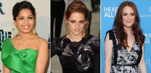 Freida Pinto, Kristen Stewart e Julianne Moore estão entre as mais bem-vestidas da semana (02/07/2010)