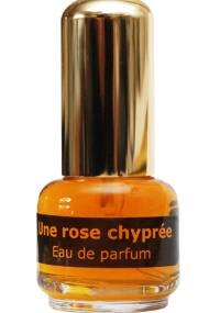 Frasco do perfume Une Rose Chyprée, do perfumista Andy Tauer