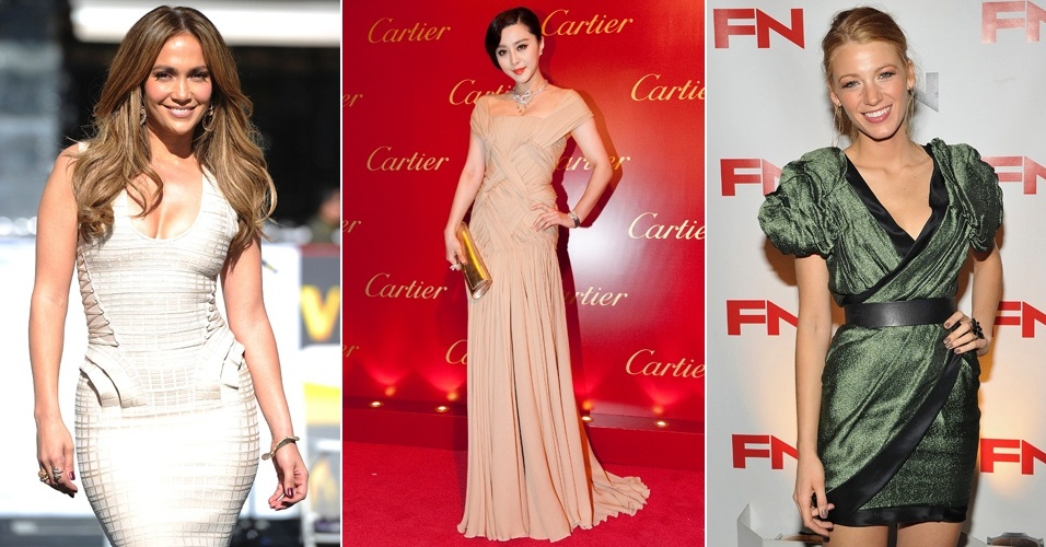 Jennifer Lopez, Fan Bingbing e Blake Lively estão as bem vestidas