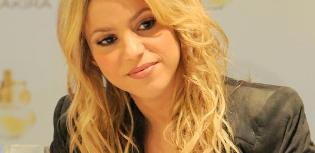 A cantora Shakira participa de coletiva de imprensa para lançamento de seu perfume no Brasil (19/03/2011)