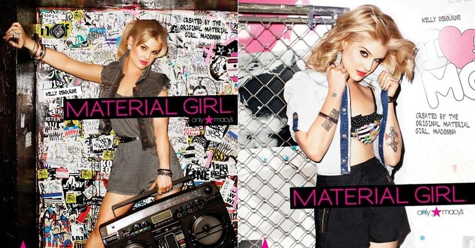 Março 2011: A cantora Kelly Osbourne substituiu a atriz Taylor Momsen como garota-propaganda da Material Girl, linha de Madonna com sua filha Lourdes Maria. A campanha do Verão 2011,  com fotos de Brooke Nipar foi lançada no fim de fevereiro
