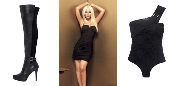 Montagem mostra peças da coleção de Christina Aguilera para a C&A, que começa a ser vendida 1º de abril (31/3/2011)