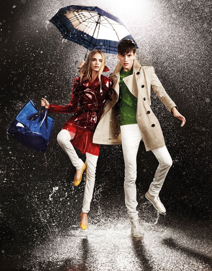 Abril 2011: A inglesa Burberry lanou sua segunda coleo April Showers (