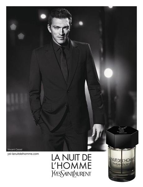 Abril: O ator Vincent Cassel, que  o rosto do perfume La Nuit De L'Homme da YSL desde seu lanamento em 2009, aparece em sua terceira campanha para a marca. A foto  da dupla Mert Alas e Marcus Piggott