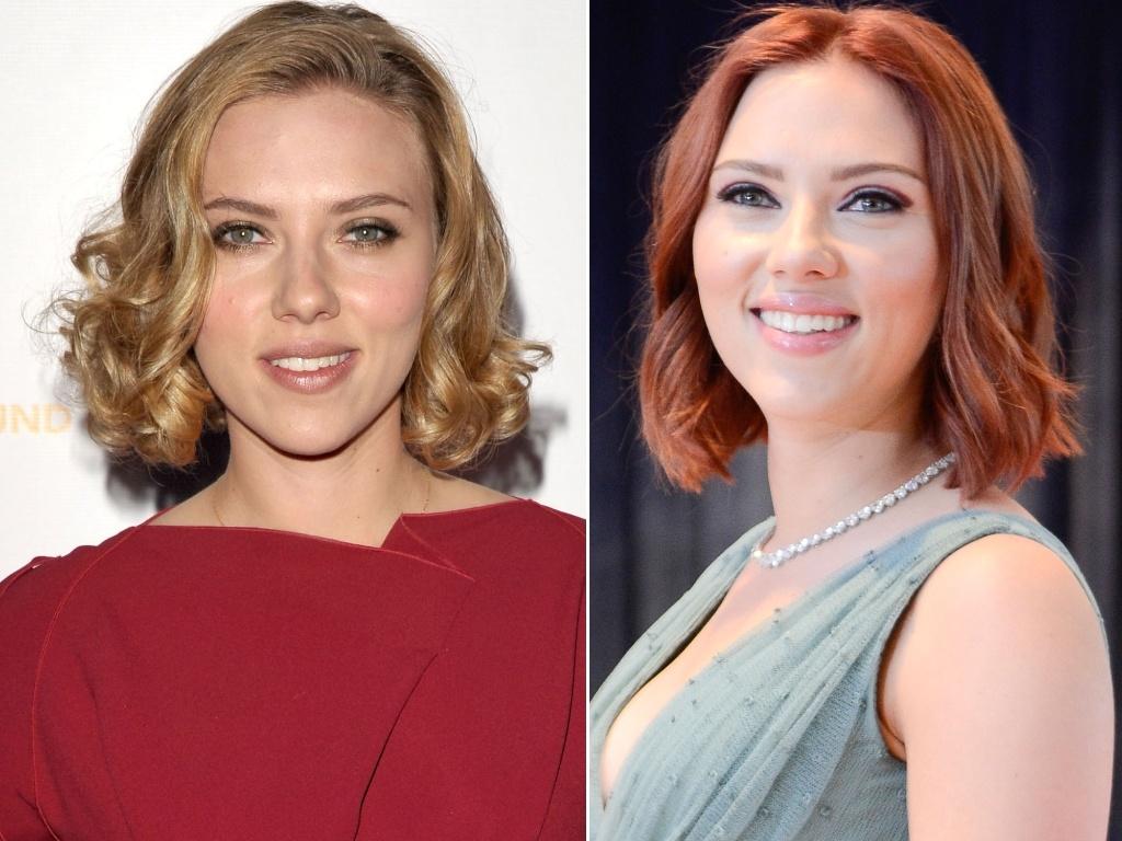 Abril: A atriz Scarlett Johansson entrou na onda das novas ruivas, como Drew Barrymore e Blake Lively, e agora exibe os fios avermelhados
