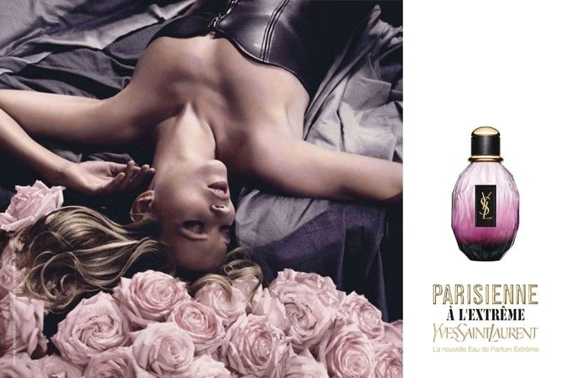 Maio: Para a campanha de Vero 2011 do perfume Parisienne, a grife Yves Saint Laurent escolhe pela segunda vez a modelo Kate Moss, fotografada por Craig McDean