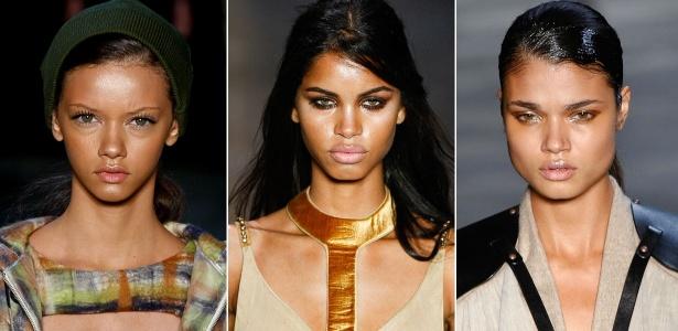 As new faces negras que mais se destacaram na temporada de inverno 2012: Marina Nery, Daiane Sodré e Daniela Braga