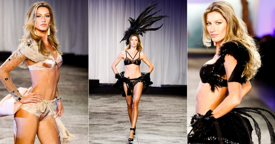 Gisele Bndchen desfila sua coleo de lingerie Brazilian Intimates em desfile em SP (12/05/2011)