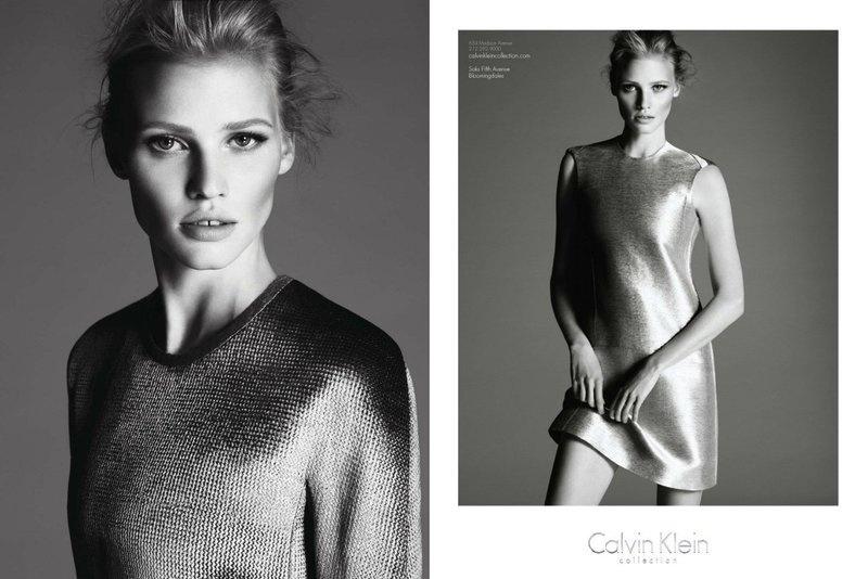 Julho 2011: A campanha de Inverno 2011 da Calvin Klein conta com a dupla de fotógrafos Mert Alas e Marcus Piggott, clicando a modelo Lara Stone. O styling é de Camilla Nickerson e a direção de arte de Fabien Baron