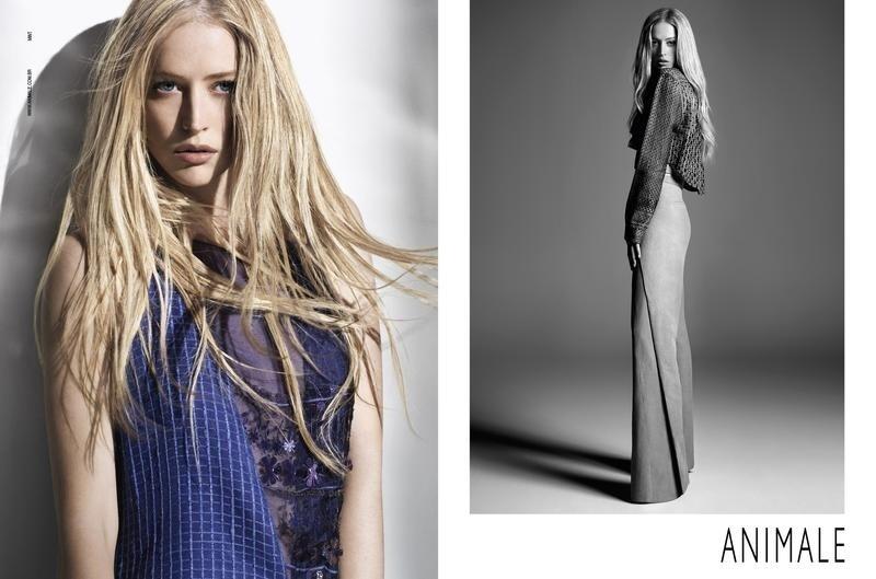 Agosto 2011: A top Raquel Zimmermann posa para o fotógrafo Henrique Gendre para a campanha de Verão 2012 da Animale. O styling é assinado por Luis Fiod