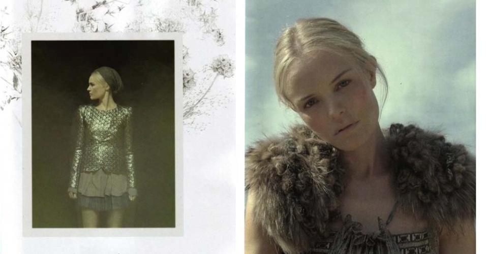 Agosto 2011: Após Lou Doillon, a atriz Kate Bosworth estrela a campanha de Inverno 2012 da marca francesa Vanessa Bruno