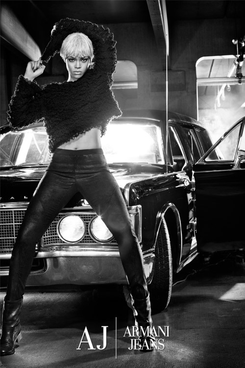 Setembro 2011: A cantora Rihanna é a nova garota-propaganda da Armani Jeans, substituindo a atriz Megan Fox. A campanha foi fotografada por Steven Klein, em Nova York, e teve lançamento mundial pela página da marca no Facebook